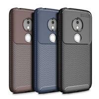 For Motorola Moto E5 Play XT1920 New Black Fibre Gel Phone Case + Screen Guard