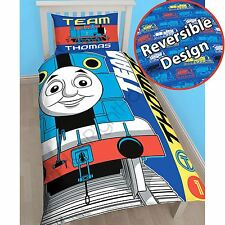 THOMAS THE TANK ENGINE TEAM SINGLE DUVET COVER SET PANEL BLUE OFFICIAL