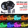 RGB 5M Waterproof Outdoor LED Light Strip SMD 5050 3528 Remote 12V 6A Adapter