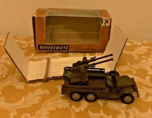 France Jouets (FJ) M.22 Dodge 6x6 Anti-Aircraft Gun Near Mint in Original Box