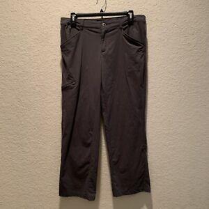 Patagonia women grey lightweight outdoor pants, size 10