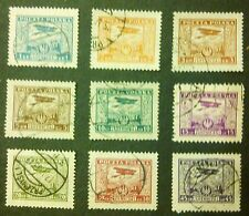 POLAND STAMPS Fi216-24 ScC1-C9 Mi224-32 - Air Post Stamps, 1925, used