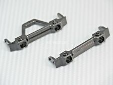 For Axial SCX10-2 UpGraded METAL BUMPER BRACKET MOUNTS Front + Rear Set