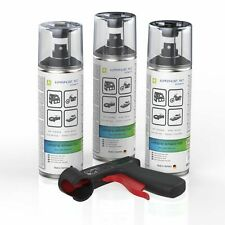 3x Lackspray schwarz matt AUPROPAINT MAT Auto Lack Spray 400ml + PG