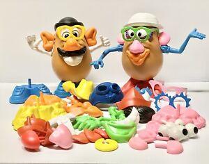 1985 Mr And Mrs Potato Head + Accessories Lot