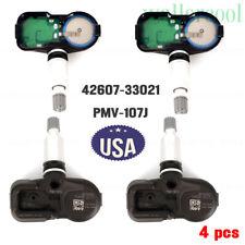 4PCS TIRE SENSOR TPMS PMV-107J For Toyota Lexus Scion GENUINE OEM 42607-33021 US