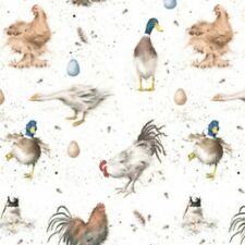 Wrendale Designs FARMYARD FEATHERS GIFT WRAPPING PAPER by HANNAH DALE Chickens