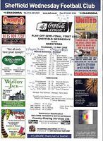 Teamsheet - Sheffield Wednesday v Brentford 2004/5 Play-Off Semi-Final