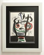 JOAN MIRO ORIGINAL 1971 BEAUTIFUL SIGNED PRINT MATTED 11 X 14 + LIST