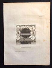 Antigüedad 1800 impresión constructores revista Estufa para la apertura de una chimenea XCIII