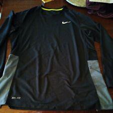 New listing Nike Athletic Shirt Long Sleeve Dri-Fit Poly. Men's Sz XL Workout Gym Black/Gray