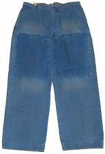 Polo Ralph Lauren Mens Chino Khaki Vintage Wash Patchwork Wide Pants Blue 38/34