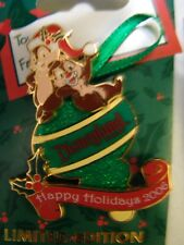 Disney 2006 Holiday Ornament Collection - Chip 'n' Dale Pin NEW LE