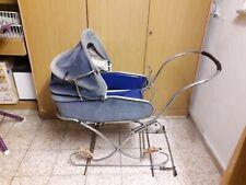 DDR Kinderwagen Zekiwa Gestell  in blau cord ohne Räder !!!!