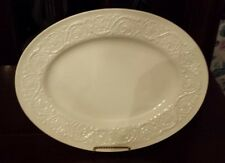 "Wedgwood Etruria Patrician Barlaston England, Embossed Platter 14"" x 11""  4H47 W"
