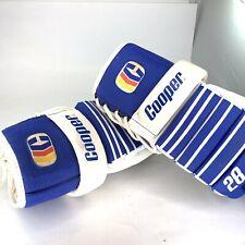Vintage Cooper 28 Hockey Gloves Armadillo Thumb Blue Colour 1970s 1980s