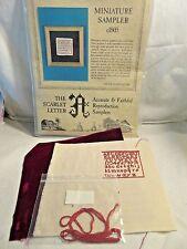 Scarlet Letter MINIATURE SAMPLER c1805 Sampler Ctd Cross Stitch KIT