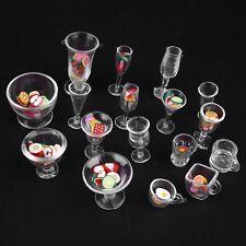 Plastic DIY Toy Goblets Tableware Dollhouse Mini Dish Cups Decor