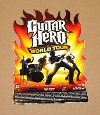 2008 guitar hero world tour promo sticker autocollant/