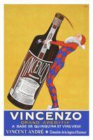 Vincenzo Grande Aperitif Art Print Vintage Quinquina Wine Ad Bar Poster 26x18