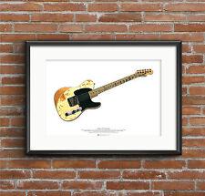 Jeff Beck's 1954 Fender Esquire guitar ART POSTER A2 size