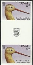 Tuvalu 1988 Wildlife Bar-Tailed godwit Wader Birds Imperforated Proof Pair