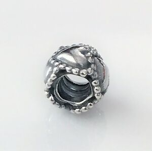 NEW AUTHENTIC PANDORA Charm Bead 790448 Row of Hearts Sterling Silver $35