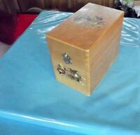 Ancien coffre coffret malle rétro vintage deco living room bureau kitchen box