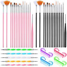 39 Pieces Nail Art Brush Set Kit, 3D Supplies Painting Brushes, Dotting Pen, DIY