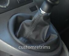 ***VW TRANSPORTER T5 BLACK FAUX LEATHER GEAR GAITER / SHIFT BOOT new***