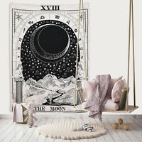 Mandala Tarot Tapestry Wall Hanging Magical Moon Sun Bedspread Tapestrie Cover X