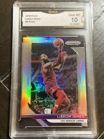 2018-19 Panini Prizm Lebron James Silver Prizm GMA 10 GEM MINT Cavs Lakers