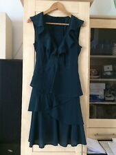 Pure Silk Dress From Warehouse, Size 12, Petrol Blue/green
