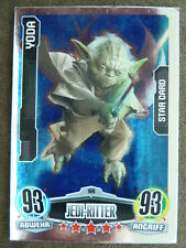 Force Attax Star Wars 1 (2012, blau), Yoda (196) Star Card