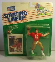 1988  JOE MONTANA Starting Lineup (SLU) Football Figure & Card - SF 49ERS
