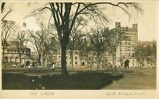 The Green, Yale University New Haven, Connecticut Real Photo Postcard/RPPC AS IS