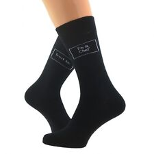 Trust me I'm a Chef Mens Black Socks  UK Mens Size 5-12
