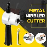 Double Heads Sheet Metal Nibbler Saw Cutter Cutting Tool Power Drill Attachment