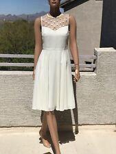 Hobbs Sweatheart White Dress US6/UK10