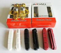 Aican Ultra light Road Bike brake pads shoes catridge for Shimano Gold, 2 pair