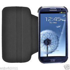 Samsung Galaxy S3 III Flip Case w/ Rotate Stand Cover Accessory Black