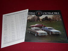 1984 OLDSMOBILE 88 98 TORONADO HUGE 32 p. OLDS BROCHURE, CATALOG + 84 BONUS ITEM