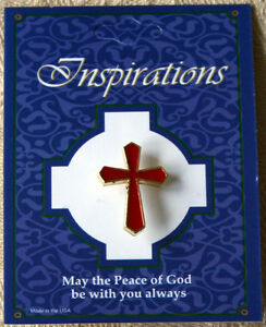 Red Jesus Cross Christian Lapel Pin Enamel Badge Button FREE P&P Qty Discount