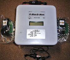 E-Mon D-Mon EMon 3208100-SAR KWH METER, 2 SPLIT-CORE 100 AMP SENSORS, 2 FUSES