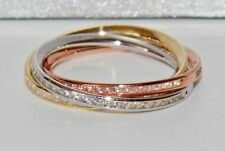 9ct Yellow Rose & White Gold 0.50ct Russian Wedding Ring - size M