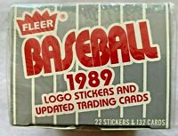 1989 FLEER BASEBALL LOGO STICKERS AND UPDATED TRADING CARDS FACTORY SEALED