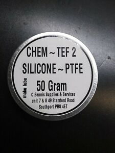 CT-2 SILICONE GREASE WITH TEFLON,50g TIN  PLASTIC SAFE LOW FRICTION