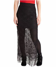 Patternless Polyester Casual Maxi Skirts for Women