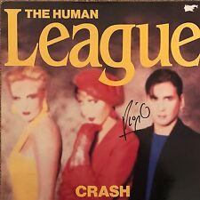 "PHIL OAKEY HAND SIGNED HUMAN LEAGUE 12"" VINYL CRASH."