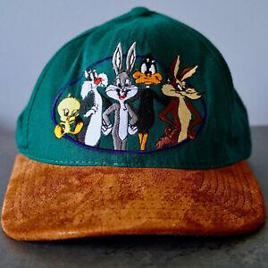Vintage Looney Tunes ACME 1991 Warner Bros Snapback Cap Bugs Bunny, Tweety,Daffy